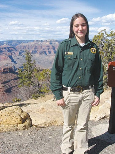 Sophomore Ashley Beale was recognized for the 600 hours she's put in as a park volunteer.