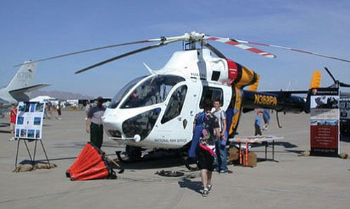 """MD 900 Explorer helicopter at the recent """"Thunder in the Desert"""" Open House and Air Show at Luke Air Force Base on March 21 and 22 in Glendale, Ariz."""