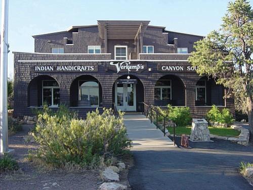 Verkamp's Visitor Center features exhibits on the human history of Grand Canyon Village and a Grand Canyon Association bookstore.