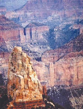 The depth of Grand Canyon's North Rim provides awesome views.<br> Photo/Carl Wells
