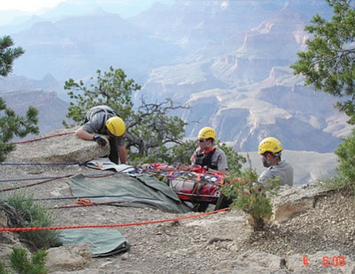 Rangers rescue a woman who fell 50 feet near a popular viewpoint at Grand Canyon National Park.