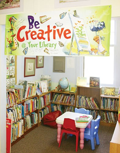 Patrick Whitehurst/WGCN The theme for this year's summer reading program is 'Be Creative at Your Library.'