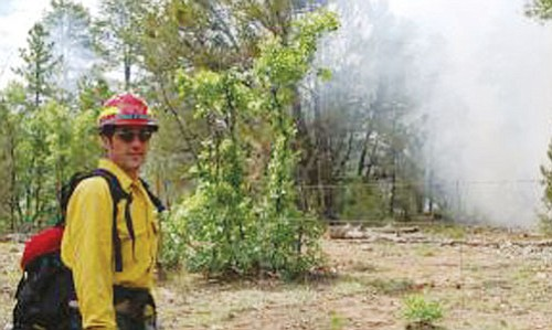 Courtesy Kaibab National Forest Firefighters with the Kaibab National Forest continue to monitor conditions on the Indian Fire located south of Tusayan.