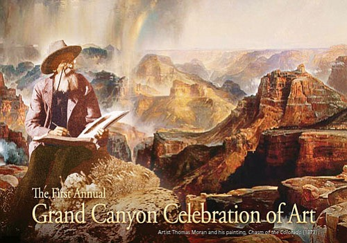 Courtesy Grand Canyon Association Famed artist Thomas Moran is featured on the poster for the first annual Grand Canyon Celebration of Art.