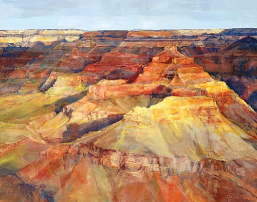 <br>Courtesy Grand Canyon Association<br> Flagstaff resident Arline Tinus's painting 'The Queen and her Court' was one of two of her paintings chosen for the 2009 Paint the Parks exhibit.