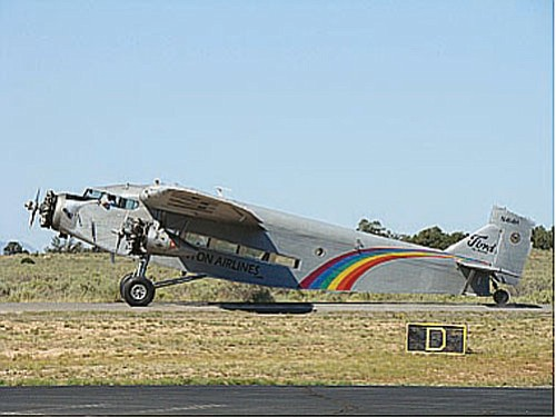 <br>Photo/Molly Harris<br> Ford Tri-Motor 5-AT-C, Serial No. 74, NAT ship No. 17, 155th Ford Tri-Motor built, pictured at Valle Airport in Northern Arizona.
