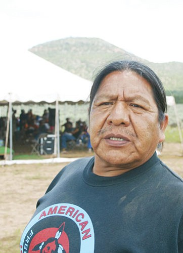 <br>Patrick Whitehurst/WGCN<br> Roland Nanakaja, the natural and cultural resource director for the Havasupai tribe, helped organize the gathering at Red Butte.