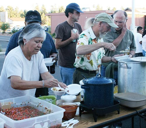 <br>Photo/GCN<br> This year's chili cook off will be held Monday beginning at 5 p.m. at the Tusayan Fire Department, pictured above during a past cook off.