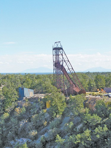 <br>Photo/GCN<br> The head-frame at Orphan Mine, pictured above, was recently dismantled as cleanup efforts at the South Rim property continue.