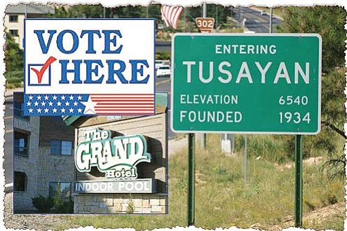 <br>Photo/Craig Andresen<br> Voters will decide whether or not to incorporate the community of Tusayan March 9. The Grand Hotel will host voters as the official polling place during the election.