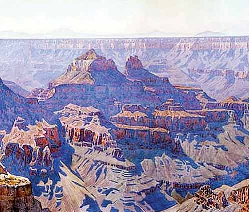 <br>Image courtesy Grand Canyon Association<br> Gunnar Widforss painted a number of images of Grand Canyon, including the above watercolor on paper piece. His work will be on exhibit as part of the Picerne collection that will be on display at Kolb Studio.