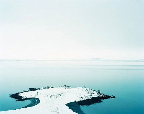 """<br>Submitted photo<br> Devon Island Coast, Kevin Cooley, uninhabited island in arctic Canada, 2008, C-Print, 28"""" X 40."""""""
