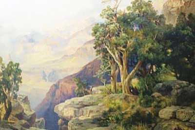 Patrick Whitehurst/WGCN<br> A special Thomas Moran print is also part of the Grand Canyon's museum collection, as are two original paintings.