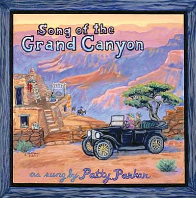 The cover for the 'Song of the Grand Canyon' CD, featuring a painting by Williams resident Val Jesse.