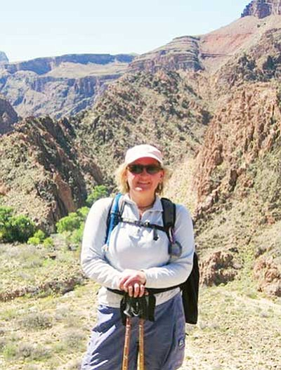<br>Courtesy photo<br> Lori Rommel hiking in Grand Canyon National Park.