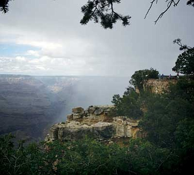 Patrick Whitehurst/WGCN<br> Thunder storms are called for in the weather forecast until tomorrow for the Grand Canyon region.