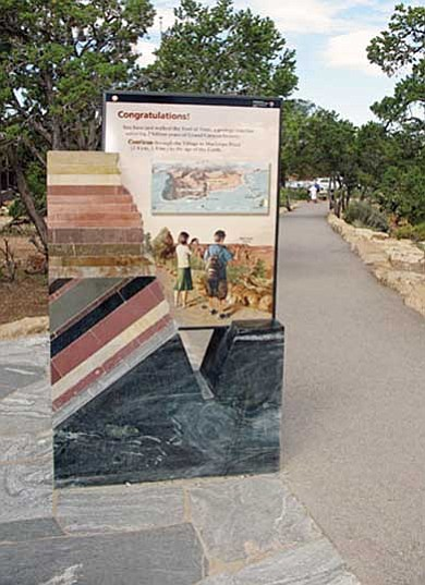 <br>Courtesy photo<br> The Trail of Time will be dedicated today at 2:30 p.m. The event coincides with Earth Science Week.