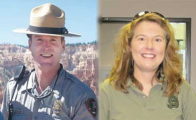 <br>Courtesy photos<br> Chief Ranger Brent McGinn and District Ranger Laurie Axelsen