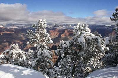 Photo/Craig Andresen<br> Grand Canyon Airport recorded -29 degrees Jan.1. The South Rim recorded a slightly warmer temperature of -12 degrees, but still a new record low temperature for the first of the year.