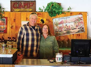 Ryan Williams/WGCN<br> Brian and Verna Ciesielski, managers of We Cook Pizza and Pasta stand ready for customers.