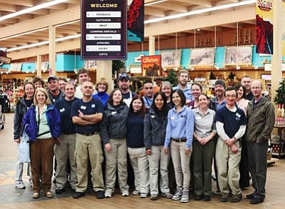 Ryan Williams/WGCN<br> Current Delaware North employees gather for a photo. Front row left to right: Michelle Scarbrough, Patrick Roney, Kiril Kirkov, Brandi Beatley, Tip McBroom, Alberta Saavedra, Josie Trenchard, Samantha Volland, Robert McNully, Marc Volland. Second row left to right: Linette Jensen, Steven Pinscak, Daniel Reger, Barbara Berryman, Troy Kellet, Luis Saldana, Diane Young, Cendy Sangermano, Greg Kennedy, Diana Chapman. Third row left to right: Joyce Wiles, Jeremy Wiles, Jed Resse, Greg Walker.