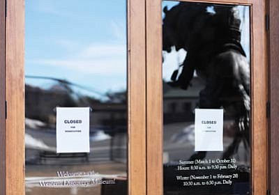 Ryan Williams/WGCN<br> A sign in the door of the Western Discovery Museum informs visitors that the attraction is closed for remodeling. Owners plan to reopen the facility as the Grand Canyon Wild West Experience.