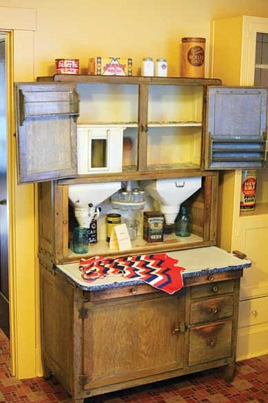 Ryan Williams/WGCN<br> A Hoosier Cabinet Silver Edition, circa 1900, sits in the kitchen once used by the Kolb brothers.