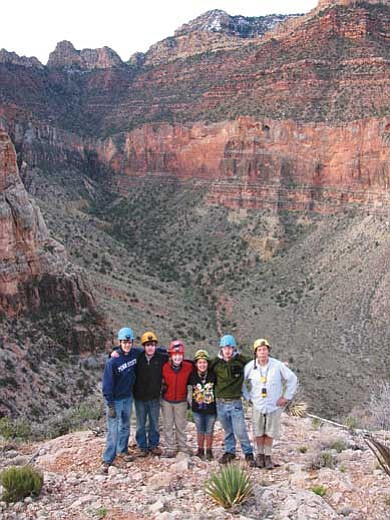 Photo/NPS<br> The Bigfork High School Cave Club with their sponsor Hans Bodenhamer in Grand Canyon.