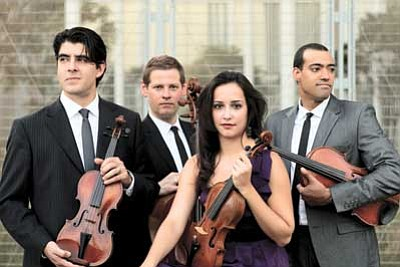 Courtesy photo<br> The Catalyst Quartet, top laureates and alumni of the internationally acclaimed Sphinx Competition, will bring their dynamic performance style to the Shrine of Ages Sept. 2, 3.