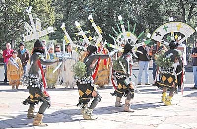 NPS photo<br> The Dishchii'bikoh Apache Group performing at Grand Canyon's 2010 Native American Heritage celebration.