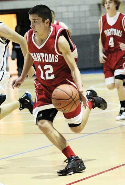 Ryan Williams/WCGN<br> Jared Ruyle takes charge of the ball during a game last year.