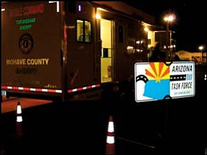 The Mohave County Sheriff's Office Mobile Command Center was used to process those arrested on DUI charges over the Thanksgiving weekend. Photo: Courtesy