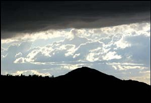 A storm moves in on the Hualapai Mountains Wednesday. Photo: JC AMBERLYN/Miner