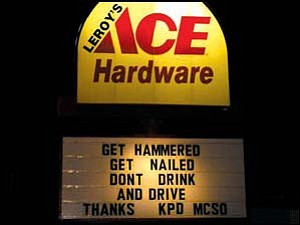 Local business became involved in getting the word out to the public about DUI enforcement over the New Year's holiday weekend. Photo: Courtesy