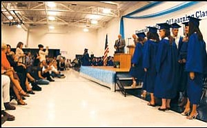 The Class of 2007 at Kingman Academy of Learning High School graduated Wednesday night at the Betty Rowe Gymnasium. A large crowd of family and friends watched and recorded the event as their loved ones stepped up to receive their diplomas. JC AMBERLYN/Miner