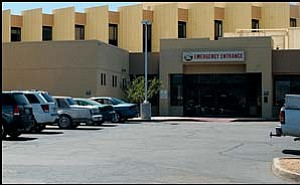 "The emergency entrance Tuesday afternoon at Kingman Regional Medical Center, which was one of seven medical centers nationwide rated ""Worse than the U.S. National Rate"" for patient heart-attack mortality by the Centers for Medicare and Medicaid Services. JC AMBERLYN/Miner"