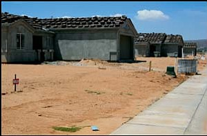 Shown here recently are some houses being built along Dafne Avenue. JC AMBERLYN/Miner