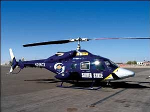 Pictured is the Bell 230 helicopter which is used by Silver State Air Rescue.  Silver State Helicopters/Courtesy