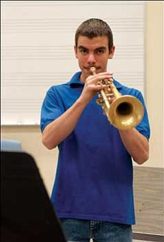 Kingman High School student Stefan Loncar has made All-State Jazz Band. JC AMBERLYN/Miner
