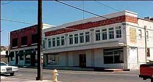 A view of the Central Commercial Co. building as it stood in August 2005, prior to the use of CDBG funds to address health and safety issues.  Courtesy