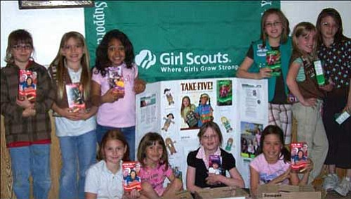 Shown here are: in back from left to right, Rayann, Ericka, Ally, Grace, Ashlynn and Shelby; in front from left to right, Sarah, Kayla, Krista, and Audrey. Courtesy