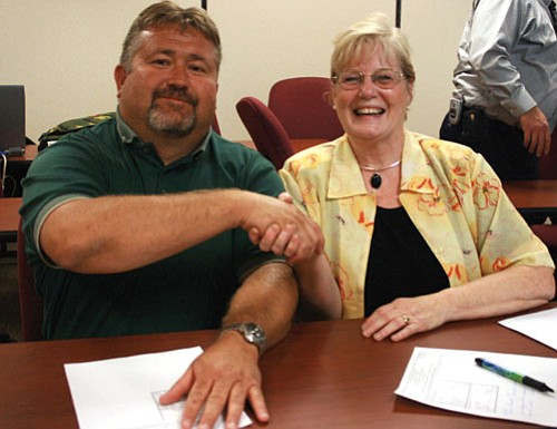Keith Walker and Carole Young were elected to the two remaining seats on City Council Tuesday night.