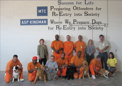 Courtesy<br><br> The dog-training program at the Kingman prison is back in action. Management and Training Corporation, which operates the prison, teamed up with CARE-Net to restart and expand the program.