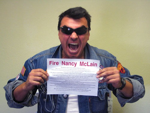 """NICHOLAS WILBUR/Miner<br><br> Golden Valley resident Luca Zanna has created a Political Action Committee, """"Republicans Against Nancy McLain,"""" to highlight a voting record that he says does not represent Mohave County."""