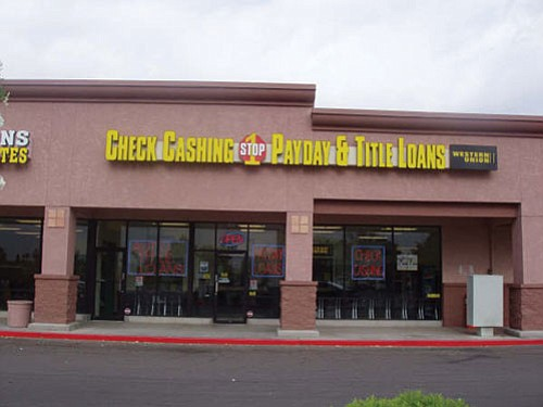 Courtesy<br><br> One of the eleven 1 Stop Payday and Title Loans operating in the Phoenix area. 1 Stop Payday and Title Loans is opening its first store in Kingman this August at 3505 Stockton Hill Road, No. 160.