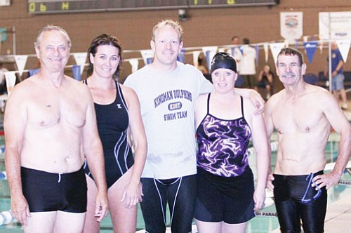 JEFF MARTIN/Courtesy<br><br> From left, Todd Boyd, Leslie Martin, Russ Eidman, Shila Eidman and John Welton won seven first-place finishes at the 2008 Las Vegas LCM meet on June 14.