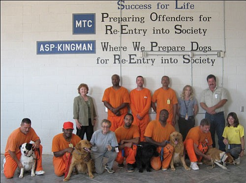Courtesy<br> The dog-training program at the Kingman prison is back in action. Management and Training Corporation, which operates the prison, teamed up with CARE-Net to restart and expand the program.