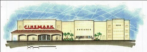 This concept art for Cinemark's proposed eight-screen multiplex was submitted to the Kingman Planning Department last week. Cinemark has signed a lease for the property, which will be built in the Mountain View Plaza at Eastern Avenue and Hualapai Mountain Road in the next year. <br>Courtesy
