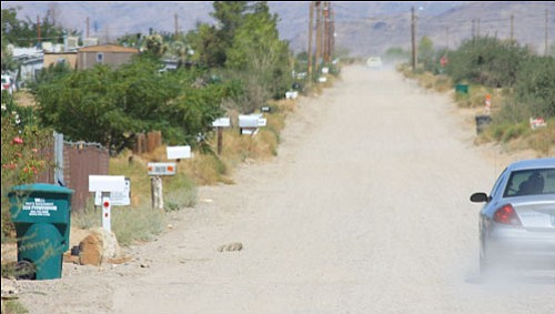 JC AMBERLYN/Miner<br><br> Mailboxes line the street along Bosque Road in Golden Valley Tuesday. There have been numerous mail thefts in the valley recently.