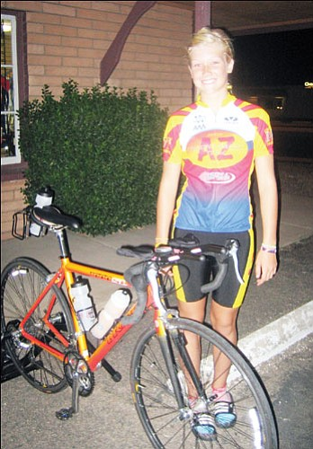 Courtesy<br><br> Hanna Olney, 12, of Kingman was recently named to the Arizona Junior Triathlon team.